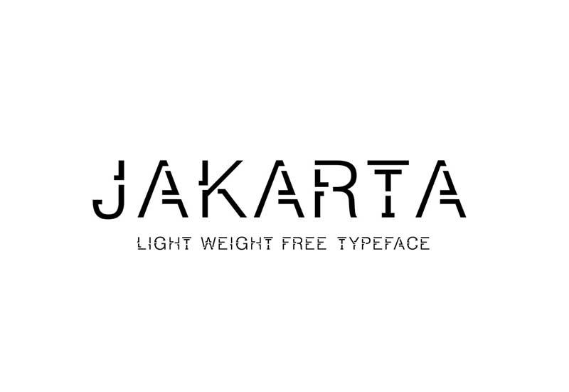 Jakarta - Free Font