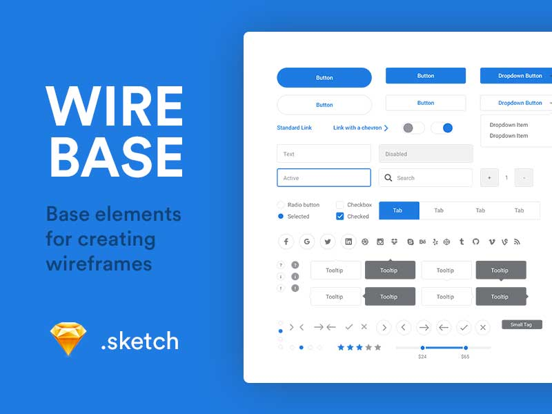 Wirebase - Wireframe UI Kit