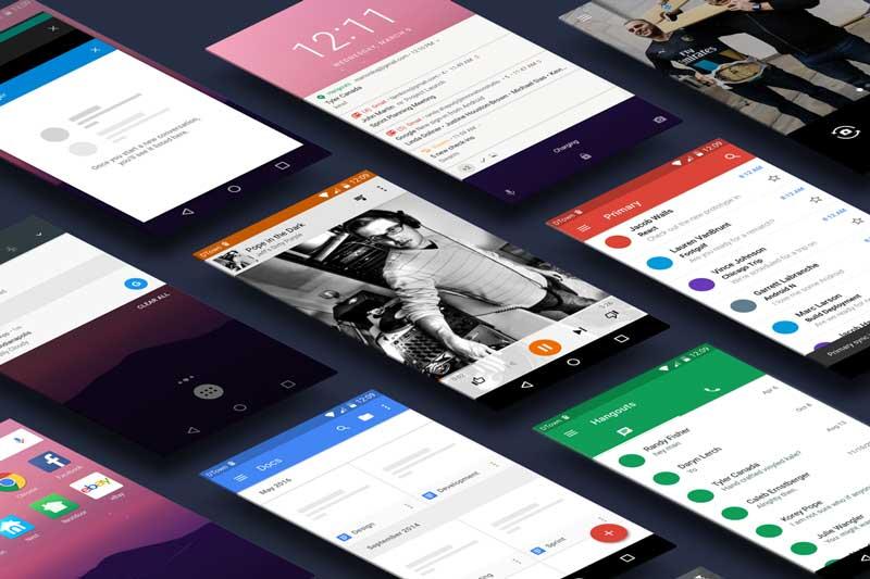 Android N - Sketch UI Kit