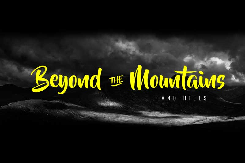 Beyond The Mountains - Free Font