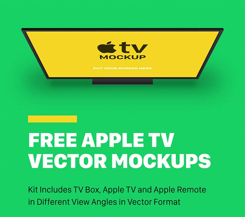 Free Apple TV Mockups