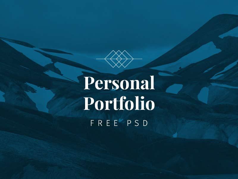 free portfolio template psd designermill