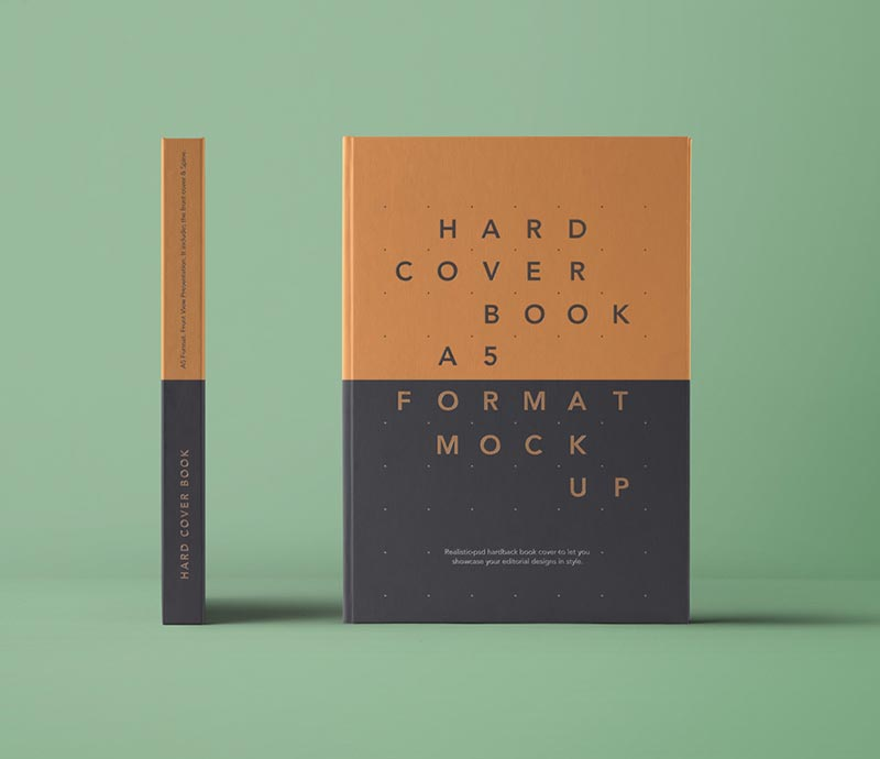 Hardcover Book - PSD Mockup