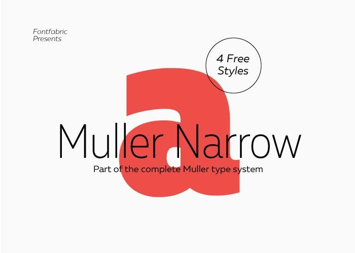 Muller Narrow - Free  Font