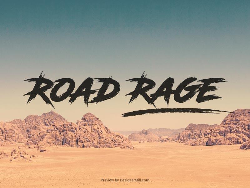 Road Rage - Free Font