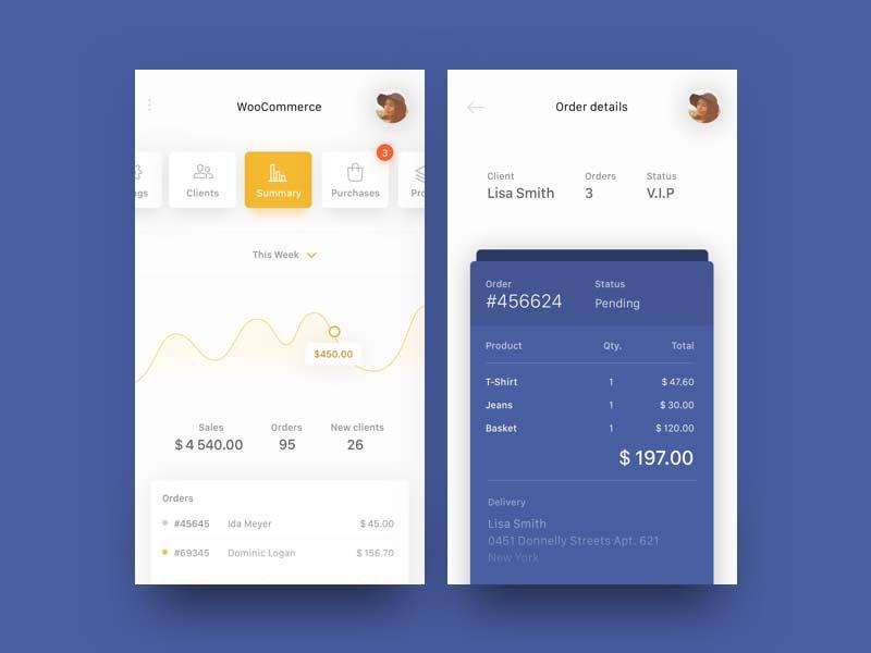 WooCommerce App Concept - Freebie
