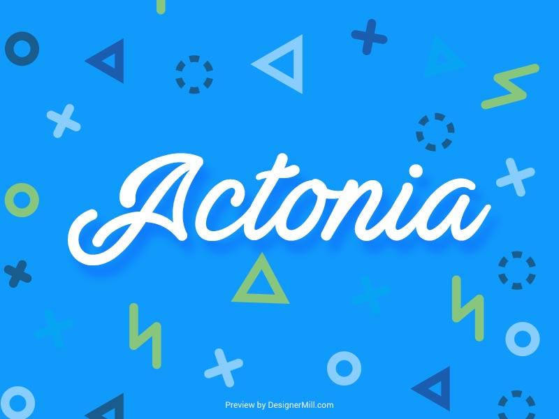 Actonia - Free Font