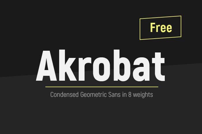 Akrobat - Free Font