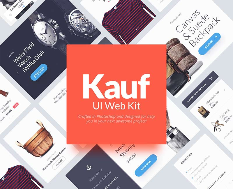 Kauf - Free Web UI Kit