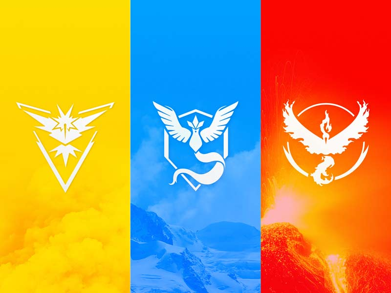 Pokemon GO - Team Logos