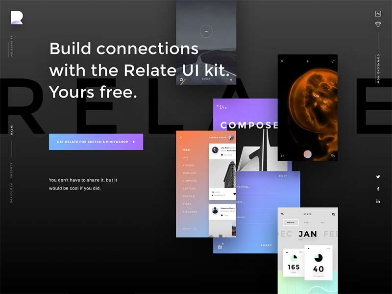 Relate - Free UI Kit