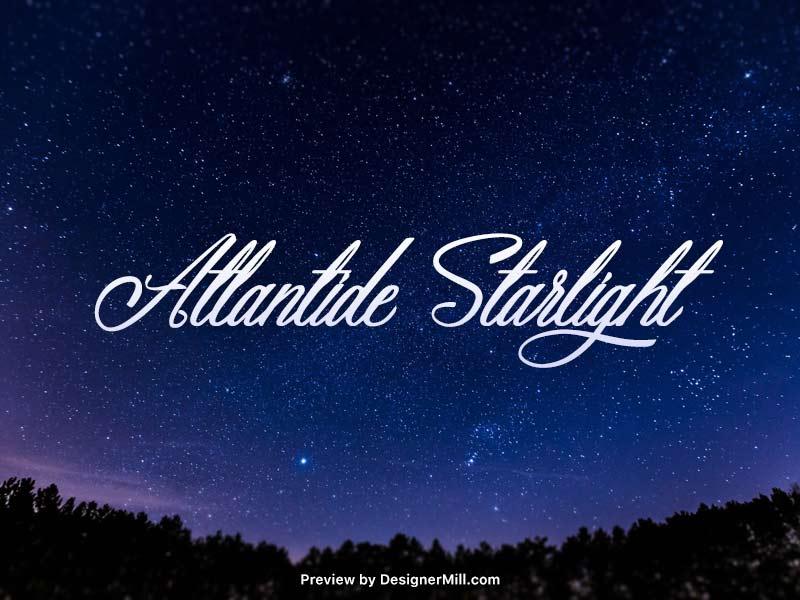 Atlantide Starlight - Free Font