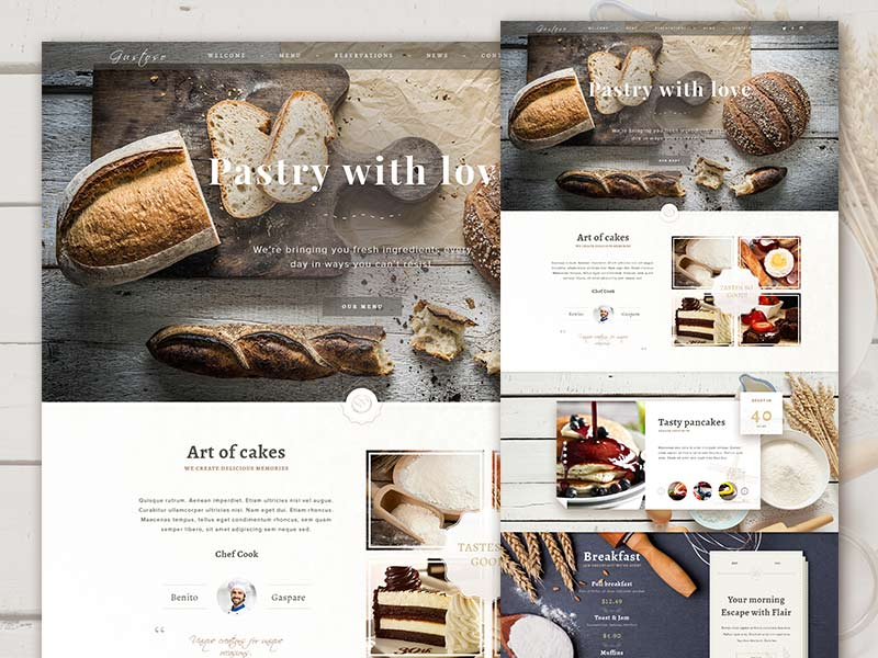 Bakery - Website PSD Template