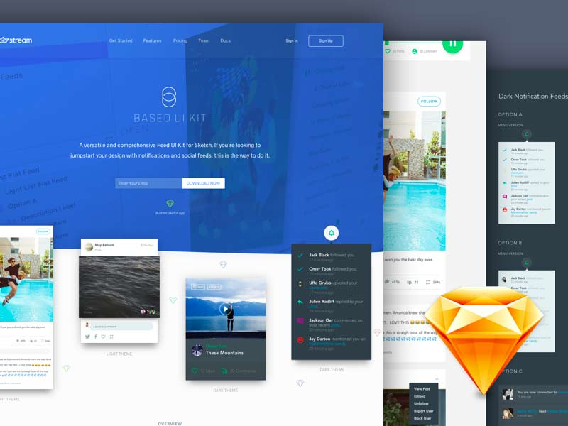 Based - Free Sketch UI Kit
