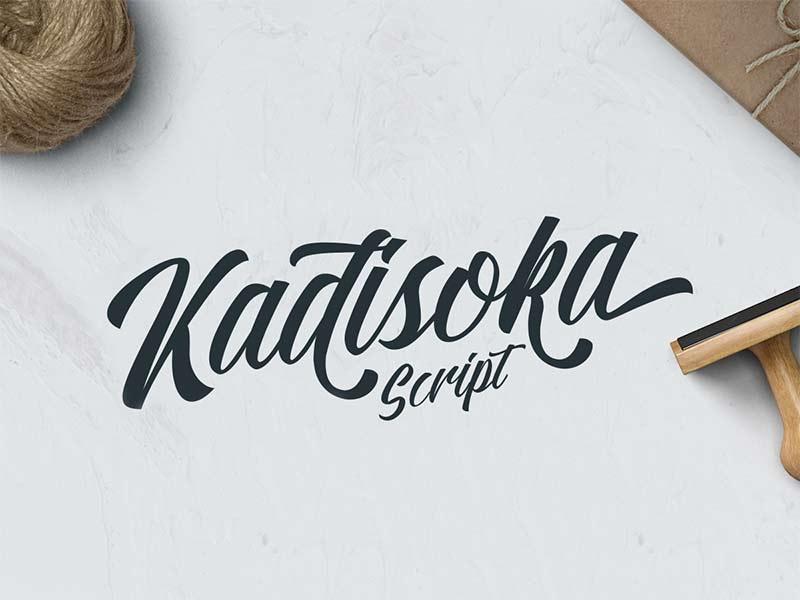 Kadisoka Script - Free Font
