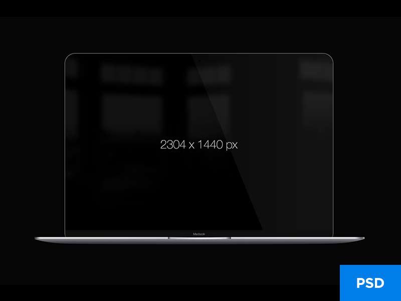 MacBook Mockup - Free PSD