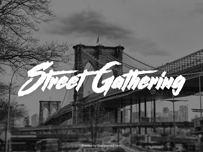Street Gathering - Free Font