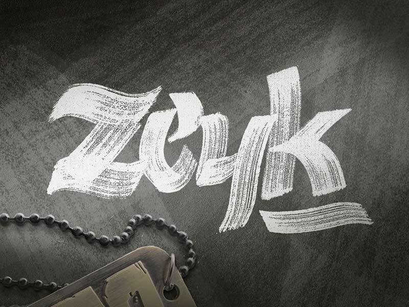 Zeyk - Free Brush Font