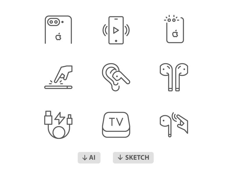 60 Free Apple Products Icons