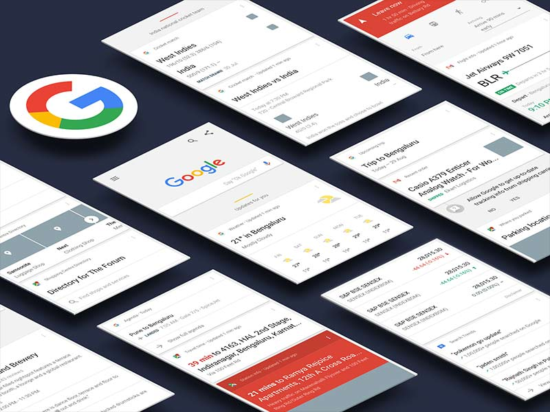 Google Now UI Kit for Sketch