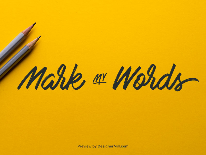 Mark My Words - Free Font
