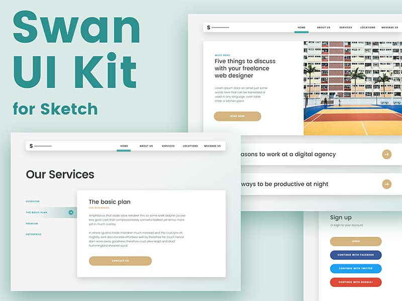 Swan - Web Page UI Kit