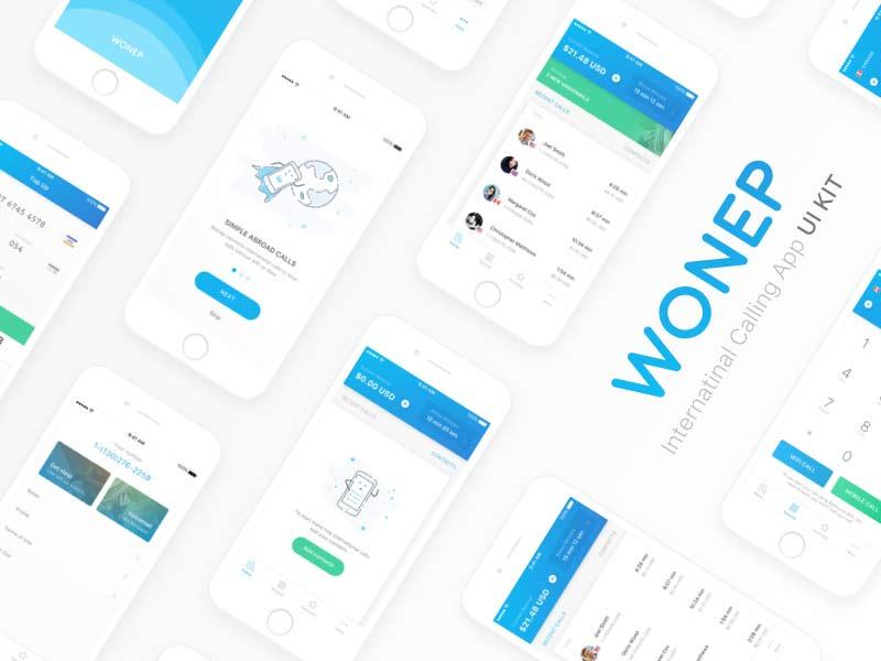 Wonep - Calling App UI Kit