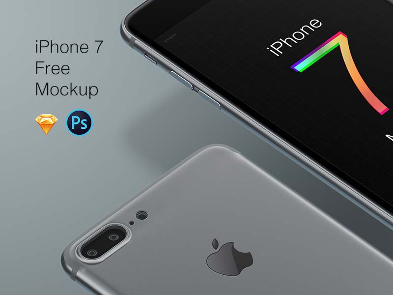 iPhone 7 Free Mockup for Photoshop and Sketch