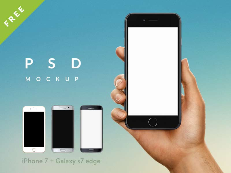 iPhone 7 & Galaxy S7 Edge Mockups