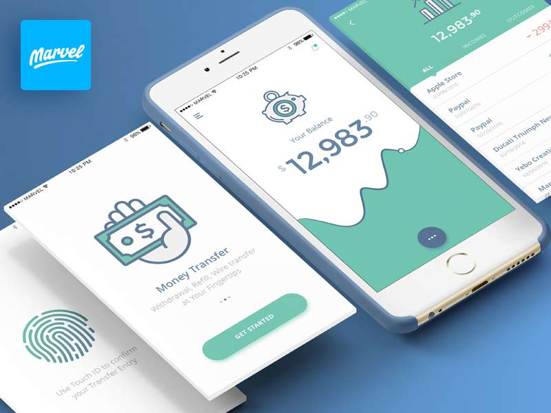Banking App - UI Kit for Sketch