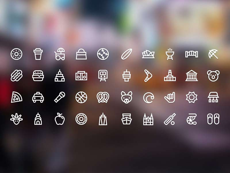 Citysets - 80 free city icons
