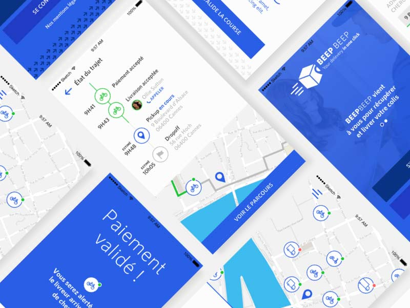 Delivery App UI Kit for Sketch