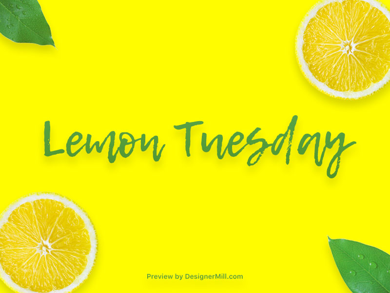 Lemon Tuesday - Free Font