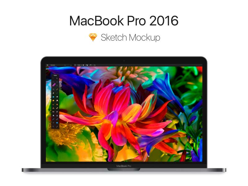 MacBook Pro 2016 - Space Grey Mockup