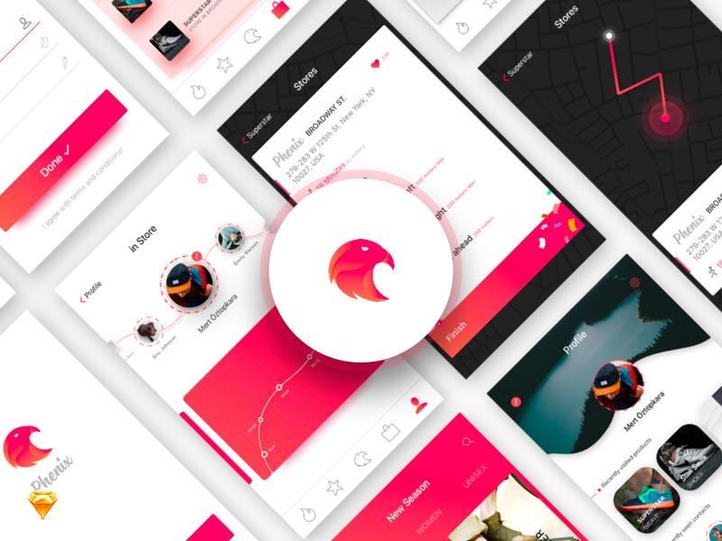 Phenix - App UI Kit for Sketch