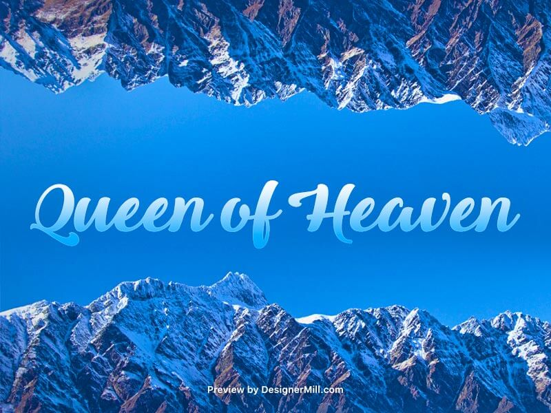 Queen of Heaven - Free Font