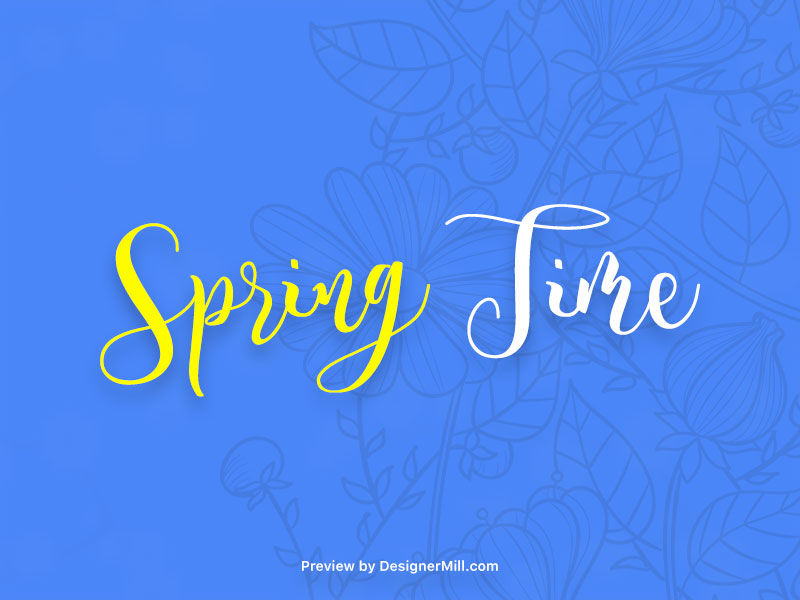 Spring Time - Free Font