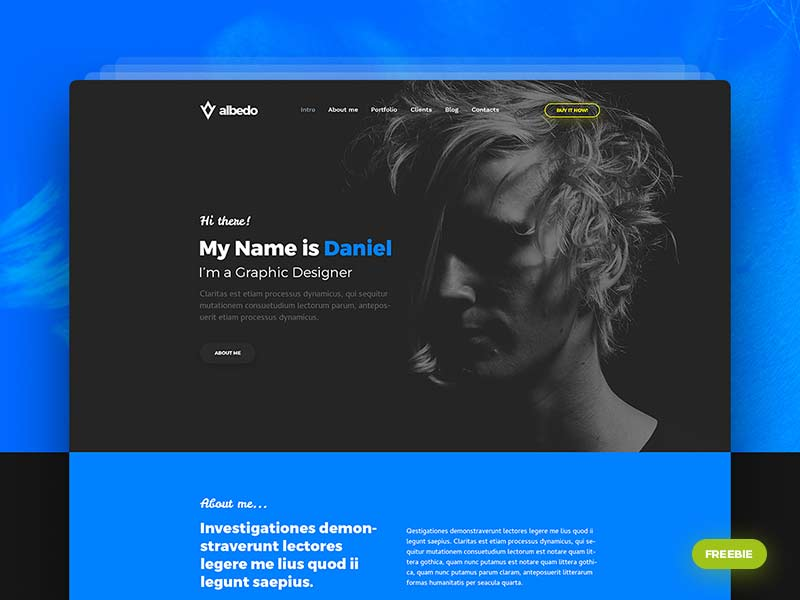 Albedo - Free Website Template