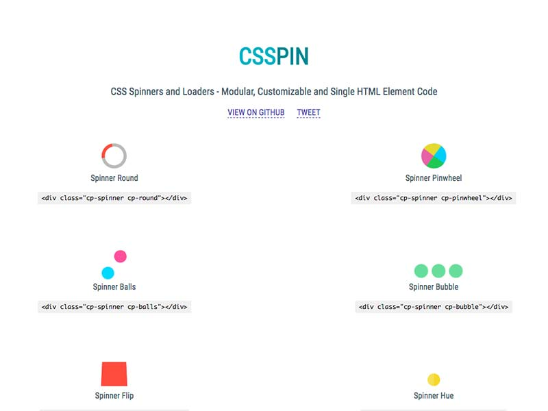 CSSPIN - CSS Spinners and Loaders