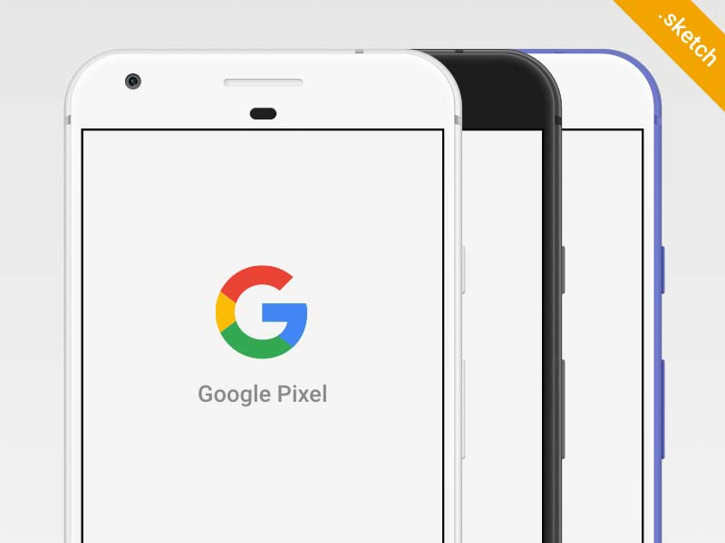 Google Pixel Mockup for Sketch