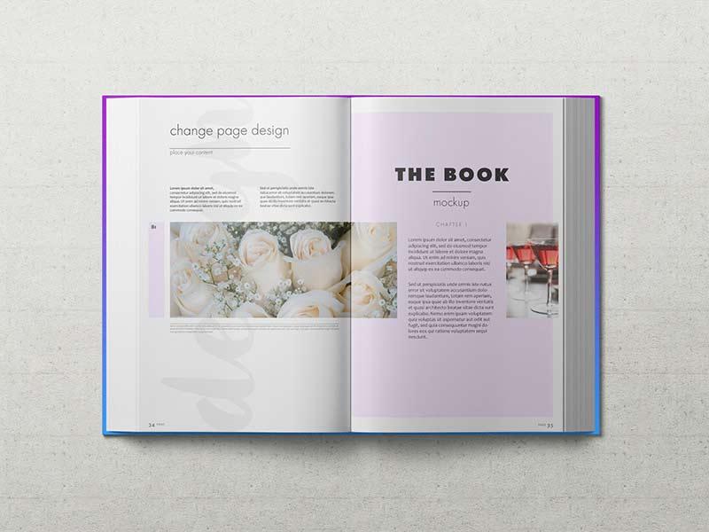 Hardback Book - PSD Mockup