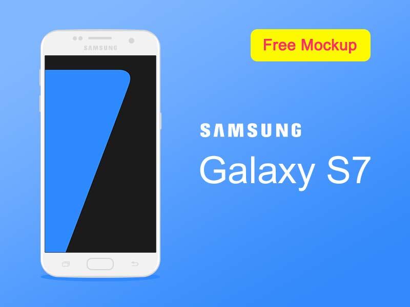 Samsung Galaxy S7 - Flat PSD Mockup
