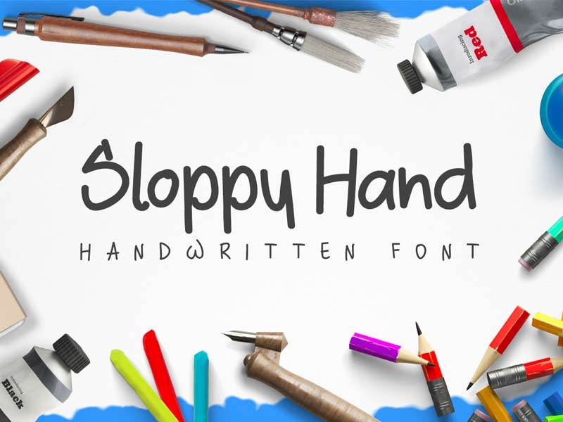 Sloppy Hand - Free Font