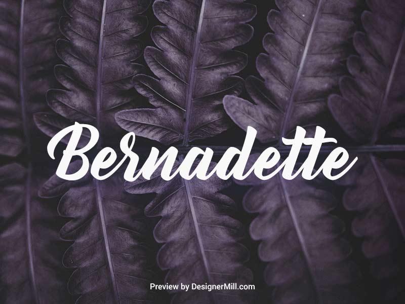 Bernadette - Free Font