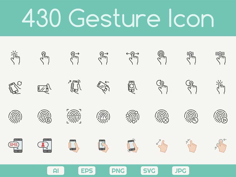 430 Free Hand Gesture Icons