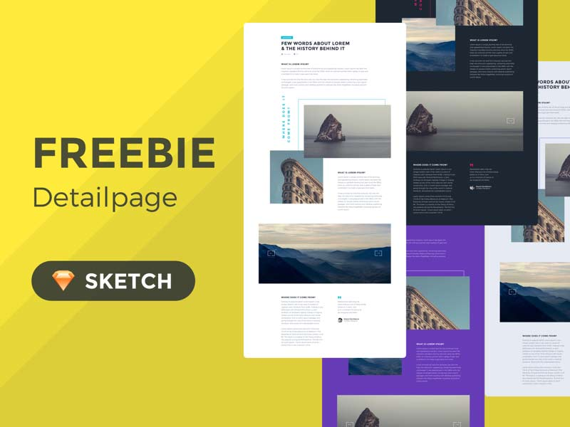 Detailpage - Sketch Freebie