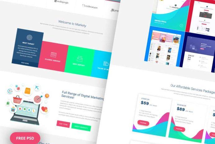 Markety Website PSD Template