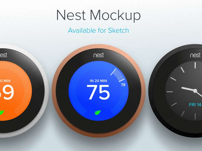 Nest Mockup - Sketch Freebie