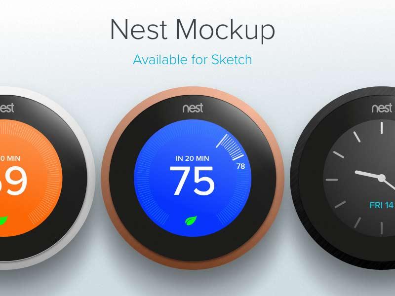 Nest Mockup - Sketch Freebie