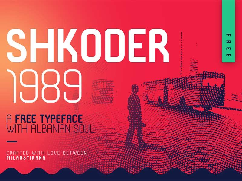 SHKODER 1989 - Free Font
